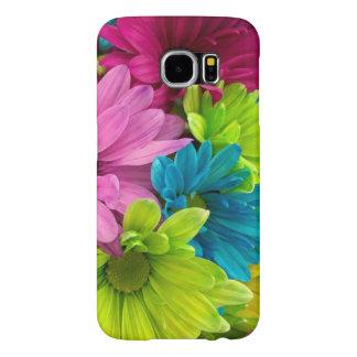 Fleurs et motif colorés