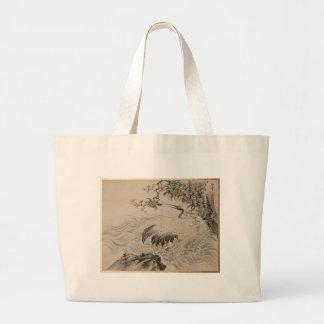 Fleurs et oiseaux - Japonais (période d'Edo) Grand Sac