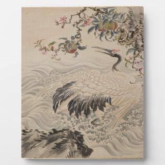 Fleurs et oiseaux - Japonais (période d'Edo) Plaque Photo