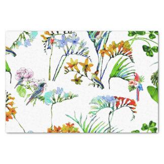 Fleurs et oiseaux tropicaux d'île papier mousseline