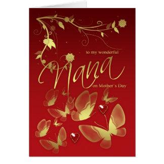 Fleurs et papillons de carte du jour de mère de