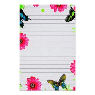Fleurs et papillons papeterie