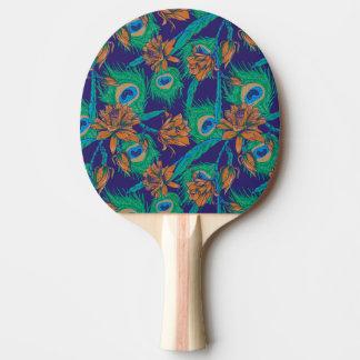 Fleurs et plumes raquette tennis de table