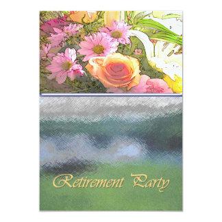 Fleurs et retraite de brouillard carton d'invitation  12,7 cm x 17,78 cm