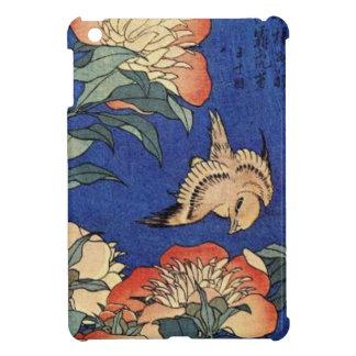 Fleurs et un oiseau coque pour iPad mini