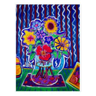 Fleurs fantastiques par Piliero Carte Postale