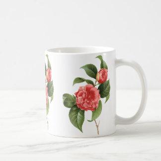 Fleurs florales et roses vintages de camélia par mug