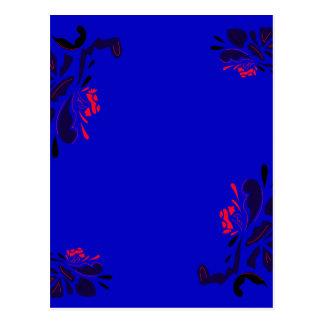 Fleurs folkloriques de luxe d'ornamental d'ethno carte postale