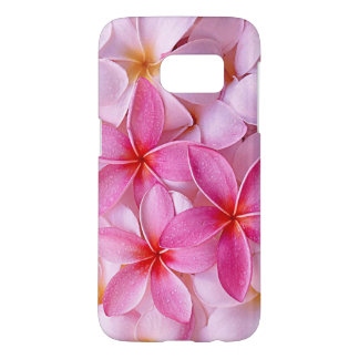 Fleurs hawaïennes chics élégantes de Plumeria de Coque Samsung Galaxy S7