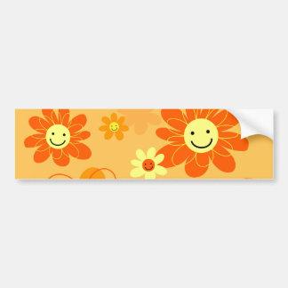 Fleurs heureuses autocollant pour voiture