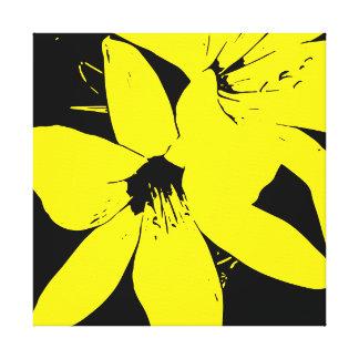 Fleurs jaunes de Lilly Toile