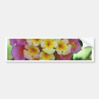 Fleurs jaunes et roses autocollant de voiture