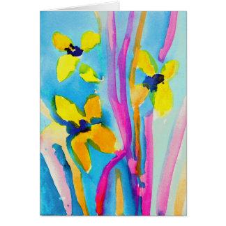 Fleurs jaunes par Christina Miller, âge 9 Cartes De Vœux