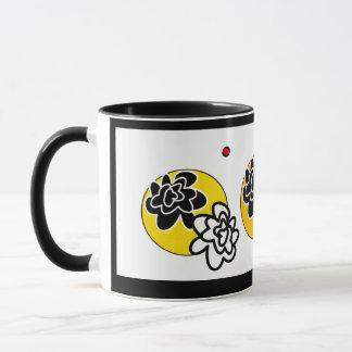 Fleurs lumineuses contemporaines de tasse de café
