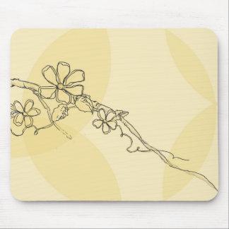 Fleurs lunatiques 1 tapis de souris