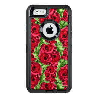 Fleurs luxuriantes cramoisies Romance majestueuses Coque OtterBox iPhone 6/6s