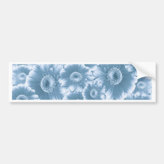 fleurs magnifiques, damassé, bleue adhésif pour voiture