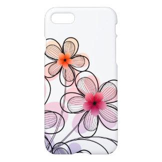 Fleurs modernes lumineuses coque iPhone 7