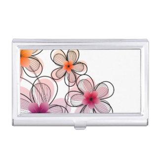 Fleurs modernes lumineuses porte-cartes de visite