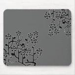 Fleurs modernes Mousepad Tapis De Souris