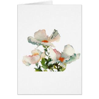 Fleurs mûres abstraites carte de vœux