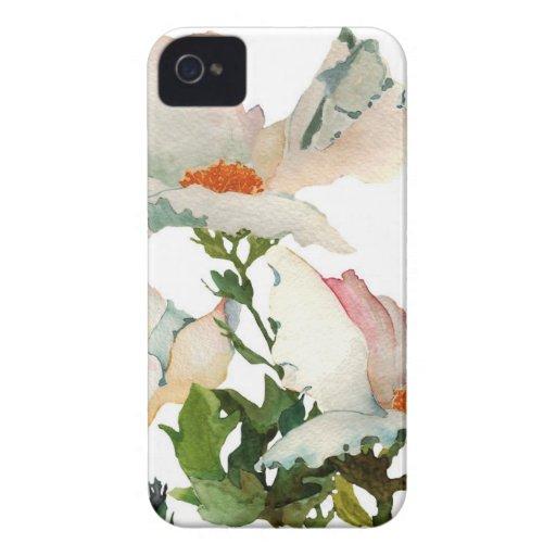Fleurs mûres abstraites coques Case-Mate iPhone 4