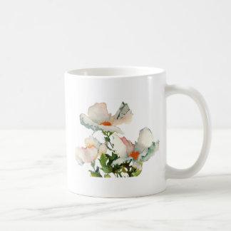Fleurs mûres abstraites mug blanc