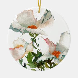 Fleurs mûres abstraites ornement rond en céramique