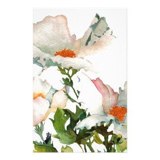 Fleurs mûres abstraites papier à lettre personnalisé