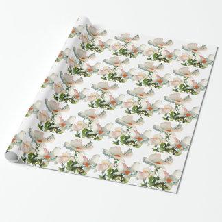 Fleurs mûres abstraites papier cadeau