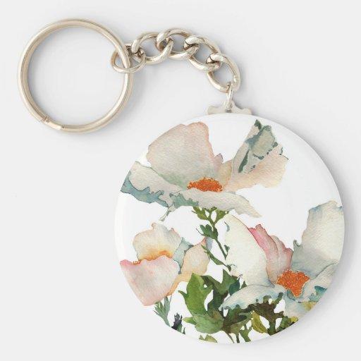 Fleurs mûres abstraites porte-clés