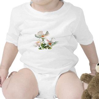Fleurs mûres abstraites body pour bébé