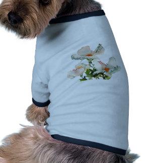 Fleurs mûres abstraites tee-shirts pour toutous