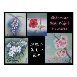 Fleurs Okinawan de carte postale de peinture