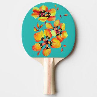 Fleurs oranges élégantes - Aqua Raquette De Ping Pong