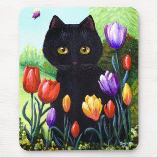 Fleurs originales Creationarts de tulipes d'art de Tapis De Souris