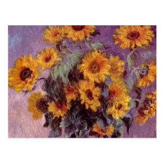 Fleurs par la carte postale de Claude Monet