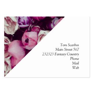 fleurs peintes magnifiques carte de visite grand format