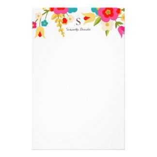 Fleurs personnalisées de pays de   papier à lettre