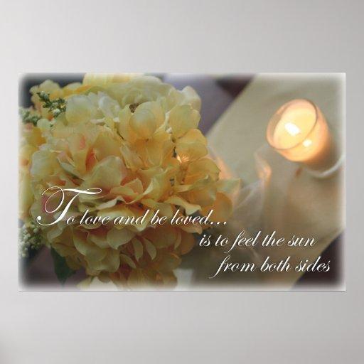 Fleurs pour aimer la citation affiche