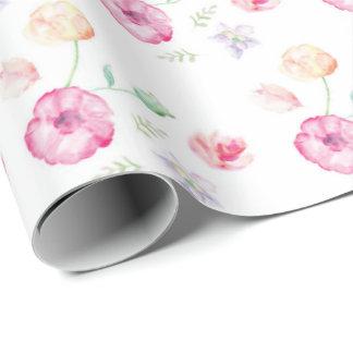 Fleurs pour aquarelle florales papier cadeau noël