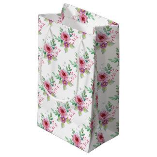 Fleurs pour aquarelle petit sac cadeau