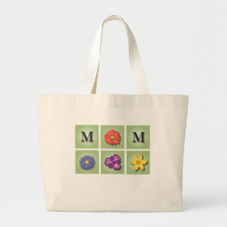 Fleurs pour le jour de mère sac en toile jumbo