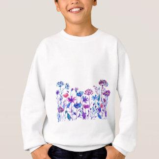 Fleurs pourpres de champ d'aquarelle sweatshirt