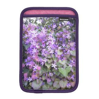 fleurs pourpres/mauve de coque ipad housses pour iPad mini