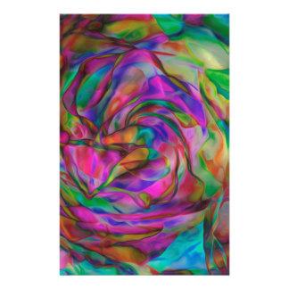 Fleurs psychédéliques papeterie