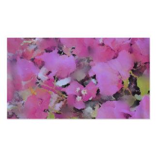 fleurs renversantes carte de visite standard
