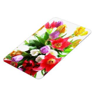 Fleurs romantiques de tulipe de ressort magnets souples
