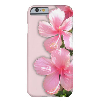 Fleurs roses brillantes de ketmie coque iPhone 6 barely there