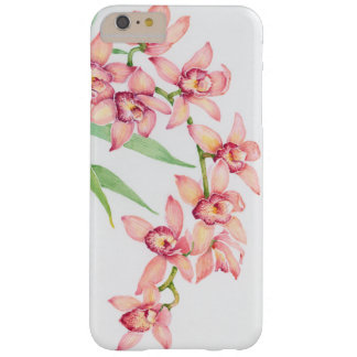 Fleurs roses d'aquarelle coque iPhone 6 plus barely there